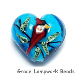 11834525 - Summer Red Cardinal Heart (Large)