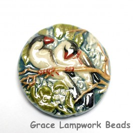 PR033600 - 36mm Porcelain Disk Twin Birds