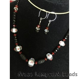 LC- Necklace with 10706611 Casino Party Graduated Rondelle Beads