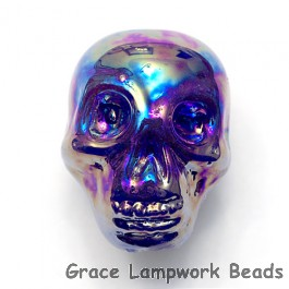 Skull06 - Purple Luster Focal Bead