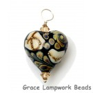 HP-11809505 - Black/Ivory & Beige Heart Pendant