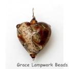 HP-11815105 - Transparent Red w/Silver Foil Heart Pendant