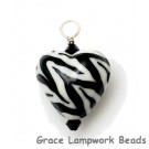 HP-11830805 - Zebra Stripes Heart Pendant