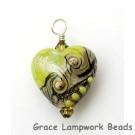 HP-11831705 - Lime Stardust Heart Pendant
