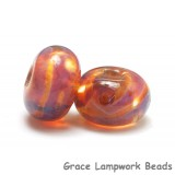 10602601 - Seven Orange & Purple Free Style Rondelle Beads