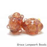10602701 - Seven Orange & Purple Rondelle Beads