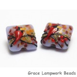 11007714 - Four Autumn Red Cardinal Pillow Beads