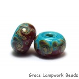 11105701 - Seven Turquoise & Amethyst w/Beige Rondelle Beads
