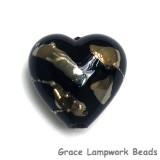 11819605 - Elegant Black Metallic Heart