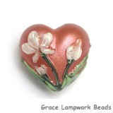 11832505 - Ivory Mist Flower on Coral Heart