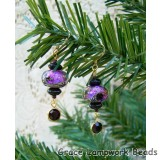 LC-Amethyst Jewel Celestial Earrings