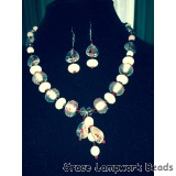 LC- Necklace with 10706621 Casino Party Rondelle Beads