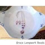LC-Purple Lentil Necklace