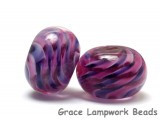10109121 - Six Mulberry Hard Candy Rondelle Beads