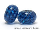 10410821 - Six Blueberry Hard Candy Rondelle Beads