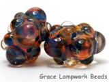 10504001 - Six Multi-Colored Rondelle Beads