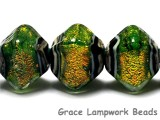 10507307 - Five Herbal Garden Shimmer Crystal Shaped Beads