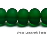 10507601 - Seven Green Matte Large Spacer Rondelle Beads