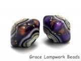 10604507 - Five Sugilite Ridge Crystal Shaped Beads