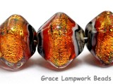 10706807 - Five Bonfire Shimmer Crystal  Shaped Beads