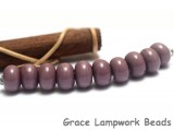 SP011 - Ten Opaque Light Plum Spacer Beads