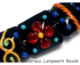 10201204 - Seven Black Based Fiesta Lentil Beads