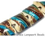 10405904 - Seven Beige Base w/Silver/Brown/Blue Pillow Beads