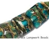 10406704 - Seven Ocean Blue w/Silver Foil Pillow Beads