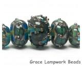 10406711 - Five Graduated Ocean Blue w/Silver Foil Beads