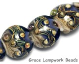 10407002 - Seven Transparent Ink Blue w/Free Style Lentil Beads
