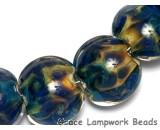 10407502 - Seven Blue & Orange Lentil Beads
