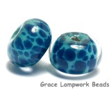 10408601 - Seven Teal Blue Free Style Rondelle Beads