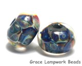 10408801 - Seven Blue-green & Purple Rondelle Beads