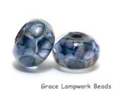 10410601 - Seven Soft Blueberry Rondelle Beads