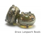 10503401 - Seven Green w/Silver Foil Rondelle Beads