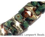 10503614 - Four Green w/Super Ivory Pillow Beads