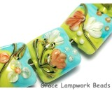 10504304 - Seven White w/Orange Flora Pillow Beads