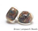 10602401 - Seven Blue, Green & Purple Free Style Rondelle Beads