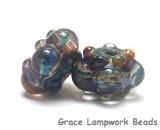10602501 - Seven Blue Free Style Boro Rondelle Beads