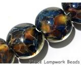 10902502 - Seven Multi-color w/Blue & Red Lentil Beads