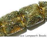 40101014 - Four Golden Green Metallic Pillow Beads