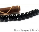 SP012 - Ten Opaque Black Spacer Beads