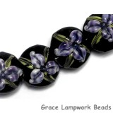 10205712 - Four Purple Iris Lentil Beads