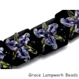 10205714 - Four Purple Iris Pillow Beads