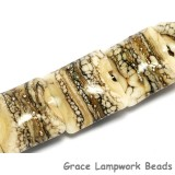10306004 - Seven Dark Ivory w/Silver Pillow Beads