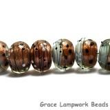 10903241 - Eight Smokey Bronze Rondelle Beads