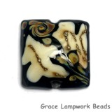 11809504 - Black/Ivory & Beige Pillow Focal Bead