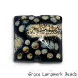 11810104 - Black w/Silver Ivory Pillow Focal Bead