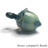 11820309 - Liquid Blue Acorn Focal Bead