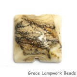 11810904 - Dark Ivory w/Silver Pillow Focal Bead